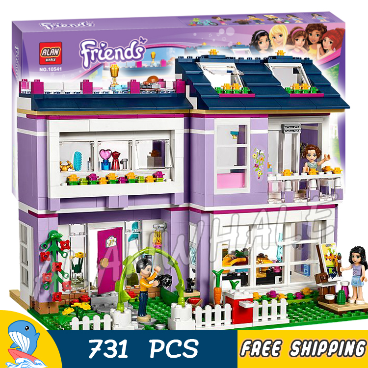 731pcs Princess Series Emmas House Building Brick Blocks Snow queen Elsa Anna Toys Compatible With Lego<br><br>Aliexpress