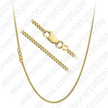 "PATICO Hot Sale 1PC Nice Quality Gold Color Necklace With Big Discount 16""-30""Popular Flat Curb Chains Jewelry For Pendant"