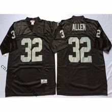 Mens Retro 1984 Marcus Allen Stitched Name&Number Throwback Football Jersey Size M-3XL(China)