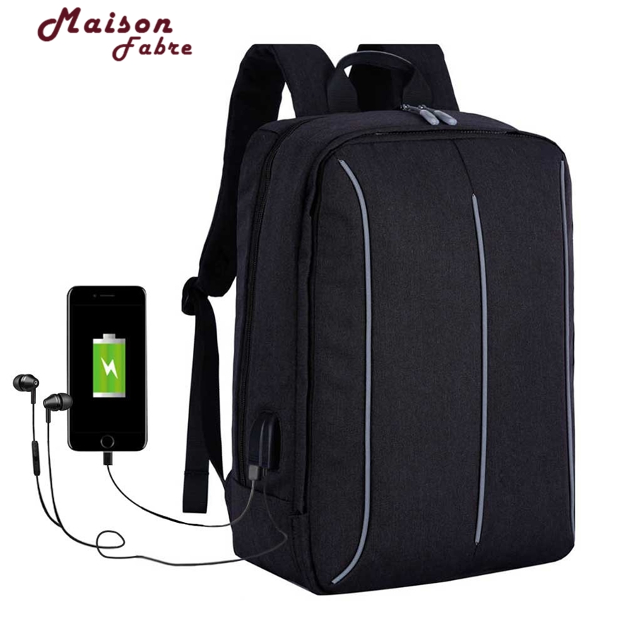 1517 Laptop Backpack External USB Charge Computer Backpacks Anti-theft Waterproof Bags for Men Women mochila masculina 106#30<br>