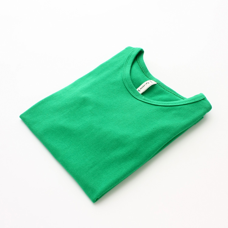 Autumn New 100% Cotton Kids T Shirt Candy Color Long Sleeve Baby Boys Girls T-Shirt Children Pullovers Tee Girl Boys Clothes 15