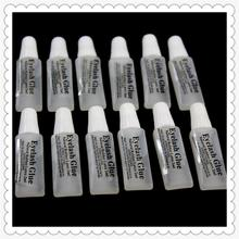 Fashion Eyelash glue plastic tube Travel transparent glue 2 ml false eyelashes makeup tool(China)