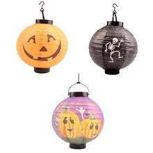 2016 New Arrival 6Pcs Different Halloween Decorations LED Pumpkins Lantern Jack Skeletons Spiders Bats Haunted