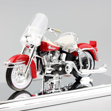 1 18 Scale maisto Harley 1962 FLH Duo Glide Diecasting model motorcycle sport bike cars vintage style miniature car toy for boy(China)