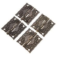 50pcs/lot 1 Inch Antique Wooden Gift Box Hinge Printing Packaging Zinc Alloy 26 x 23mm with screw New Arrival(China)