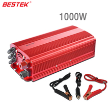 BESTEK 1000w Car Power Converter 12V DC To AC 110V Car Power Inverter 1000w Dual AC Outlet Car Power Adapter Converter Max 1200W