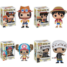 FUNKO POP One Piece Ace #100 Luffy #98 Chopper #99 Law #101 Vinyl  PVC Action Figure Collectible Model Toy 10cm KT3336