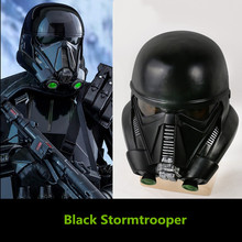 Rogue One A Star Wars Story Black Stormtrooper Helmet Resin Death Troopers Overhead Mask Deathtrooper cosplay 8