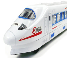 Low CRH Train Universal Wheel with Music and Light China Railway High-Speed trains Electronic train Model toys for children