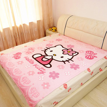 Kawaii Hello Kitty Blanket Cartoon Fleece Blankets for Adult/kidsThrow on The Bed/Sofa/Travel Queen Size 150x200cm Free Shipping