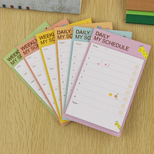 2PCS Weekly and Daily Schedule Memo Pads Escolar Cute N Times Stickers Tab Memo Office Creative Stationery Gifts