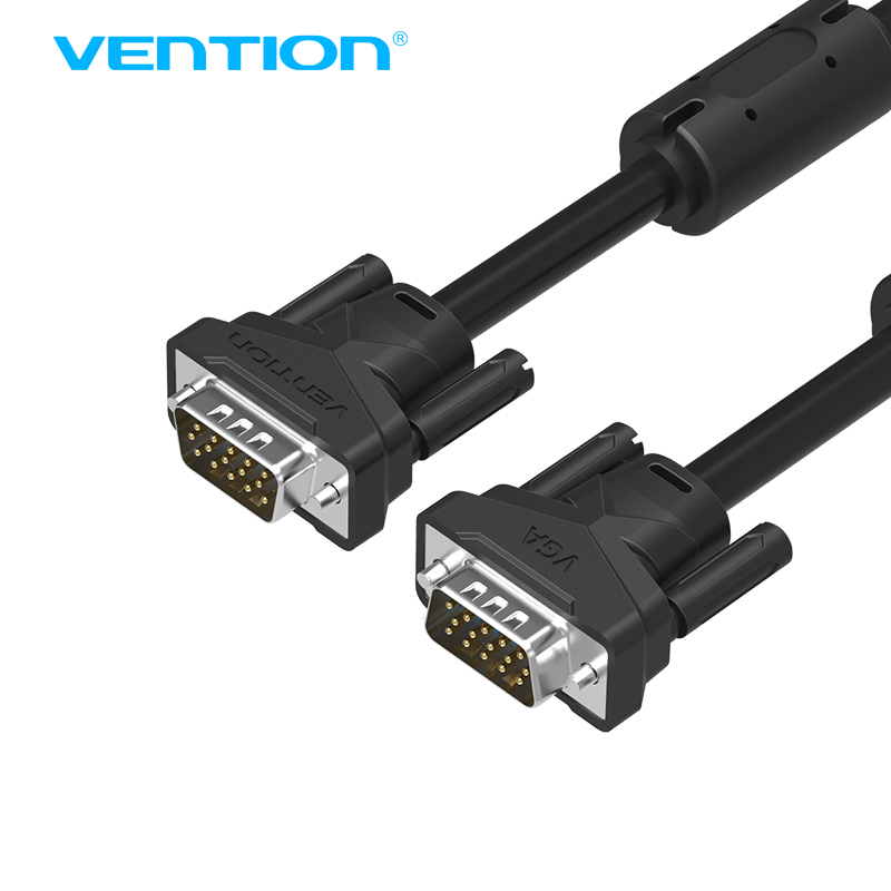 Vention VGA Cable 3+6 1m 2m 3m 5m 10m Braided Shielding VGA To VGA Cable For HDTV PC Laptop TV BoxMonitor cable vga VAG-B04-B(China (Mainland))