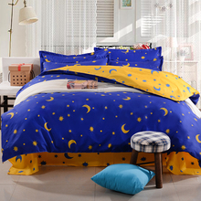 Fashion Cartoon kid adult Polyester Blue Star bedding sets,Duvet cover Bed sheet Pillowcase twin full queen size Home textile
