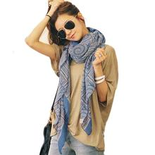 winter women neckerchief scarves Circle lattice cotton girl Bufanda Vintage Long Soft Shawl lady Wrap Scarf shawl Blanket(China)