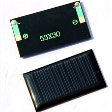 10Pcs/Lot 5V 30mA 53X30mm Micro Mini Small Power Solar Cells Panel For DIY Toy, 3.6V Battery Charger Solar LED Light Solar Cell