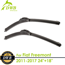 "Wiper Blades for Fiat Freemont 2011-2017 24""+18"", 2pcs free shipping, Best Auto Accessories"