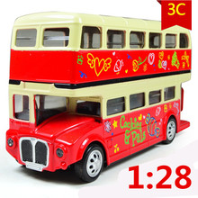 1:28 Alloy car models, high simulation city buses buses trams, buses transport children's toys gift,free shipping