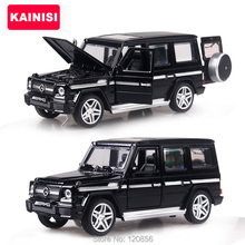 4 color 1:32 Scale 15CM Alloy Cars G65 SUV car Pull Back Diecast Model Toy with sound light Collection Gift toy Boys Kids(China)