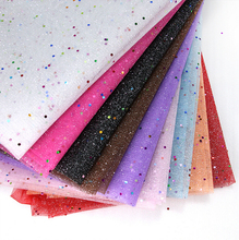 David accessories 50*160CM sequin Fabric Gauze Wrap Wedding Decoration Tissue Kids Bedding textile for Sewing Tilda Doll, 44144