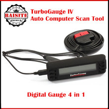 Turbogauge IV 4-in-1 Vehicle Computer OBDII/EOBD car trip computer / Digital Gauges/ scan gauge/ car diagnostic tool  #TBGG-IV