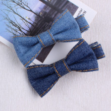 New Arrival Kids Hair Accessories denim Bowknot Hair Clip Children Crown Accessories Baby Cute Hairpins(China)