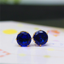 2016 new design  Imitation Zircon sweet  style stud earrings cute candy color Statement earring for women gift