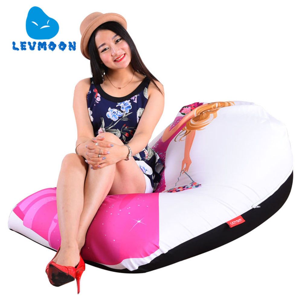 LEVMOON Beanbag Sofa Chair Princess Barbie Seat zac Comfort Bean Bag Bed Cover Without Filler Cotton Indoor Beanbag Lounge Chair<br>