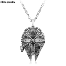 Hot Movie Star Wars Millennium Falcon Alloy Necklace Pendant Fashion Movie Jewelry Europe American Hot Necklace(China)