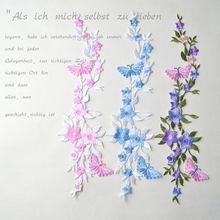 1piece Ethnic style Butterfly flower embroidery patches For Clothing Iron On Embroidered Appliques DIY Apparel Accessories badge