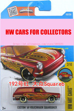 Toy cars New Hot Wheels 1:64 Custom 69th Volkswagen Squareback Models Metal Diecast Collection Kids Toys Vehicle Juguetes(China)