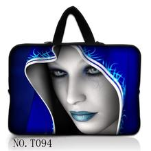Blue Hoody Lady Handle Laptop Bag 7 10 12 13 14 15.6 17 inch Computer Bag PC Sleeve Bag Case Notebook Tablets Protector Pouch