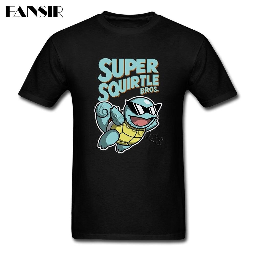 8d8353b874a Plus Size Pokemon Squirtle Plain T-shirt For Men Short Sleeve O Neck Men T