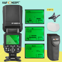 K&F CONCEPT KF590EX-N i-TTL Flash Speedlight Speedlite for Nikon D3300 D750 Camera With Free Bounce Diffuser PK Yongnuo YN560IV(China)