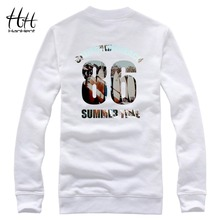 HanHent New Beach Brand Design Printed Sweatshirts Men's Casual Hoodies Spring Autumn Hip Hop Men's Clothing Skateboard(China)