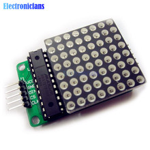 10PCS MAX7219 Dot led matrix module MCU control LED Display module for Arduino