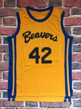 HOWARD 42 BASKETBALL JERSEY BEAVERS TEEN WOLF MOVIE MICHAEL J FOX SHIRT YELLOW ALL STITCHED(China)