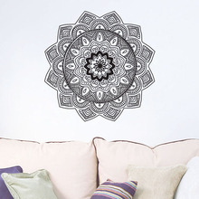 EHOME Indian Mandala Wall Stickers Home Decor Living Room Vinyl Art Sticker On The Wall Namaste Yoga Home Interior Design