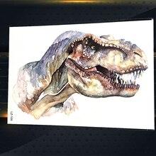 Акварель тираннозавр рекс Временные татуировки Наклейки wo Для мужчин Водонепроницаемый поддельные flash tatoo Средства ухода за кожей Книги по...(China)
