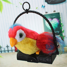 1pcs 22x19.8x5.7cm Novelty Talking Parrot Imitates And Repeats What You Say Kids Gift Funny Toy Kids Electronic Toys