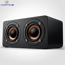 Wooden Bluetooth Speaker Portable Wireless Subwoofer Stereo Speaker HIFI Bass Sound Speaker Support TF Card AUX FM Radio(China)