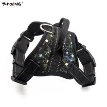 T-MENG New Pet Products Puppy Small Dog Harness Cat Vest High Quality Pu Leather Pet Dogs Harness K9 Medium Large Dog Supplies(China)