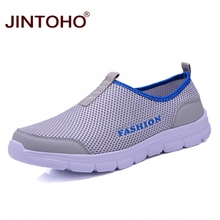 JINTOHO 여름 숨 Men Casual Shoes 싼 Mesh 남성 Shoes Brand Men 패션 Sneakers Slip 에 Shoes 대 한 Men Casual 로퍼(China)