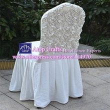 50pcs Ivory Pleated Stretch Spandex Skirting Chair Covers Wrinkled Lycra Chair Covers With Satin Rosette At Back For Wedding