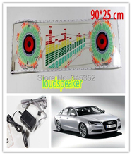 Free shipping 90*25 Car Music Rhythm lamp Dance lover Flash car Sticker  LED Sheet  Lamp Sound Music Activated Equalizer