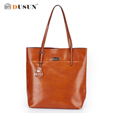 DUSUN Women Bag Genuine Leather Handbag Casual Women's Tote Fashion Famous Brand Large Capacity Vintage Shoulder Messenger Bag(China)