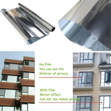 0.5M x 2M Mirror Silver 15% Solar Reflective Window Film Privacy Tint Roll(China)