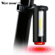 WEST BIKING Super Bright Taillights Night Riding Multi-mode USB Charging LED Tube Cycling Bike Rear Light Bicycle Tail Light(China)