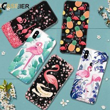 CASEIER Phone Case For iPhone 6 6s Plus Flamingo Rhinestone Glitter Soft TPU Silicone Capa For iPhone 5 5s SE Fashion Case Shell(China)