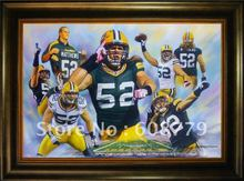 Green Bay Packers Matthews Oil Painting(China)