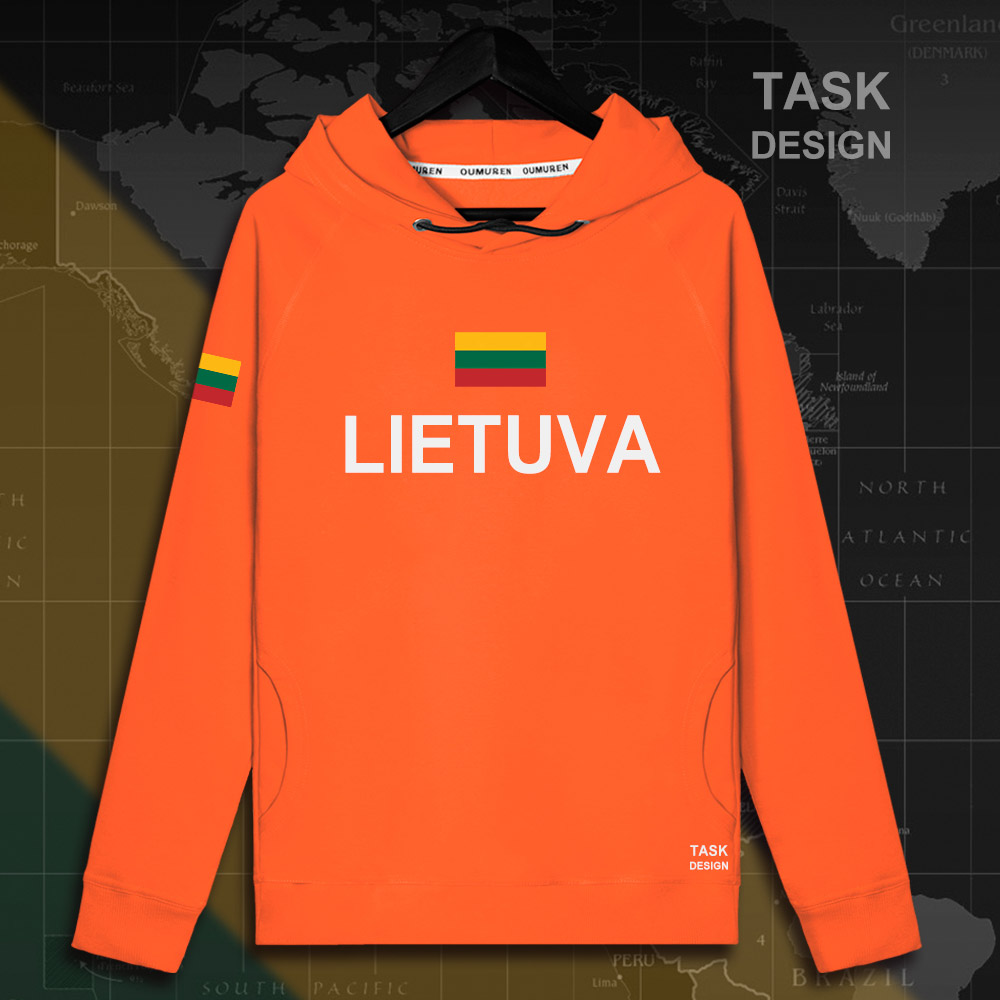 Lithuania Lithuanian LTU Lietuva Lietuvos men hoodie pullovers hoodies men sweatshirt new streetwear clothing Sportswear tracks 17